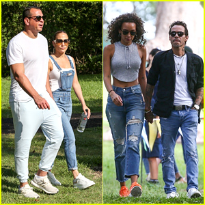 Jennifer Lopez & Alex Rodriguez Meet Up With Marc Anthony & Girlfrend Raffaella Modugno in Miami