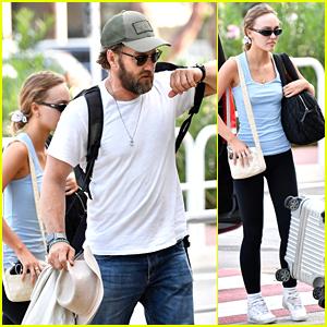 Joel Edgerton & Lily-Rose Depp Arrive In Venice Ahead of