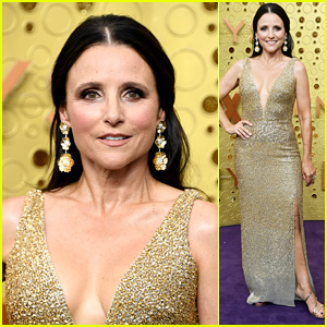 Nominee Julia Louis-Dreyfus Hits the Red Carpet at Emmy Awards 2019