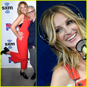 Julia Roberts Rocks Red Overalls for SiriusXM's 'Jess Cagle Show' Launch