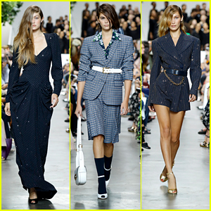 Gigi & Bella Hadid Walk In Michael Kors Collection Show with Kaia Gerber