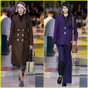 Gigi Hadid Goes Vintage For Prada Fashion Show in Milan