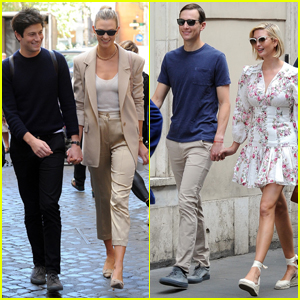 Karlie Kloss & Ivanka Trump Vacation with Their Husbands in Rome