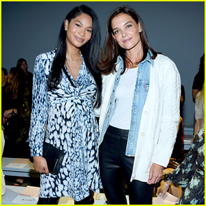 Katie Holmes Meets Up with Pregnant Chanel Iman at Elie Tahari's NYFW Show!