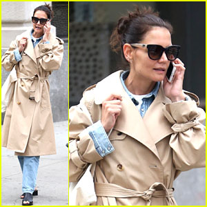Katie Holmes Wraps Up in a Trench During NYC Errands Run