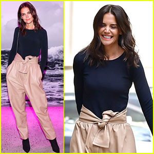 Katie Holmes Rocks a Cool New Trend at Zimmermann Show