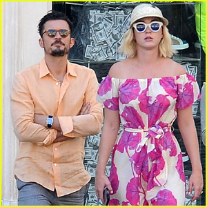 Katy Perry & Orlando Bloom Couple Up For Shopping Trip in Rome!