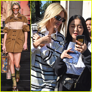 Kendall Jenner Walks The Fendi Runway With Gigi & Bella Hadid