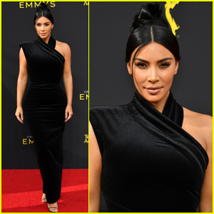 Kim Kardashian Gets Glam For Creative Arts Emmys 2019