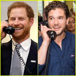 Kit Harington & Prince Harry Answer Phones for BGC Charity Day