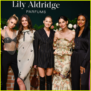 Lily Aldridge is Supported by Model Pals at Parfums Launch Party!