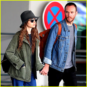 Lily Collins Arrives Back in
