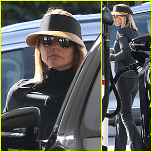 Lori Loughlin Keeps a Low Profile While Pumping Gas in West Hollywood