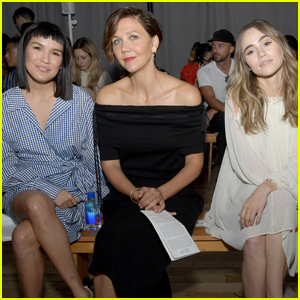 Maggie Gyllenhaal Joins Zoë Chao & Suki Waterhouse at Adeam Fashion Show