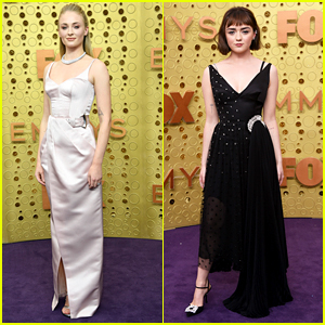 Sophie Turner Meets Up With 'Game of Thrones' Sister Maisie Williams For Emmy Awards 2019