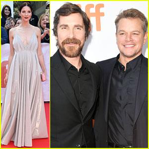 Matt Damon, Caitriona Balfe, & Christian Bale Premiere 'Ford v Ferrari' at TIFF