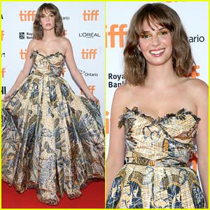 Maya Hawke Stuns at 'Human Capital' TIFF Premiere in Butterfly Dress