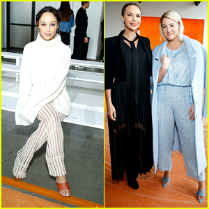 Meghan Trainor & Cara Santana Step Out For Sally LaPointe Show at NYFW