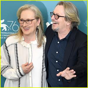 Meryl Streep & Gary Oldman Pose Together at 'The Laundromat' Photo Call at Venice Film Festival 2019