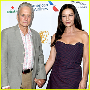 Michael Douglas & Catherine Zeta Jones Couple Up for BAFTA Tea Party