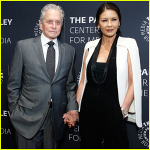 Michael Douglas Gets Support from Catherine Zeta-Jones at Paley Center Honor!