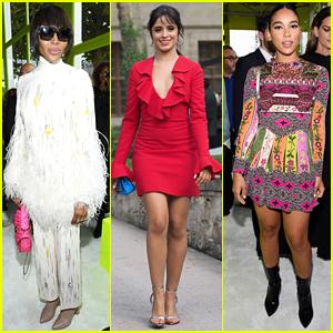 Naomi Campbell, Camila Cabello & More Attend Valentino Fashion Show During Paris Fashion Week