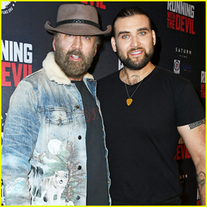 Nicolas Cage Gets Support from Son Weston at 'Running With The Devil' Premiere!