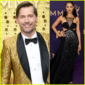 Nikolaj Coster-Waldau & Nathalie Emmanuel Support 'Game of Thrones' at Emmy Awards 2019
