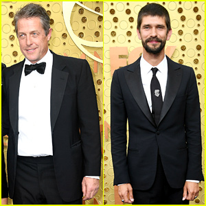 Nominees Hugh Grant & Ben Whishaw Suit Up for Emmys 2019
