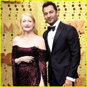 Patricia Clarkson & Boyfriend Darwin Shaw Pose Together at the Emmy Awards 2019