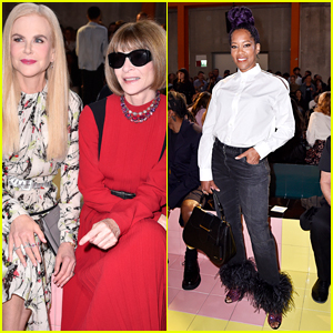 Nicole Kidman & Regina King Check Out Prada Show in Milan!