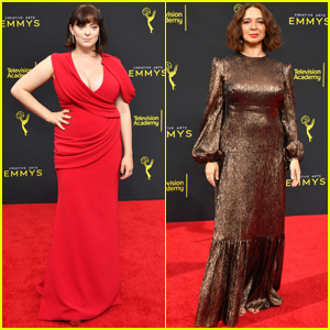 Pregnant Rachel Bloom & Maya Rudolph Step Out for Night Two of Creative Arts Emmys 2019