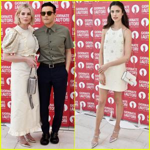 Rami Malek & Lucy Boynton Couple Up for Miu Miu Photocall at Venice Film Festival 2019