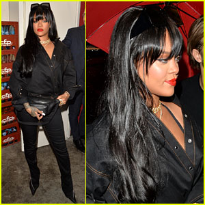 Rihanna Shows Off New Bangs at Paris Fashion Week Party