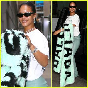 Rihanna Wraps Up in Balenciaga Shawl as She Steps Out Ahead of Diamond Ball 2019!