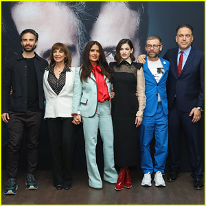 Salma Hayek Presents Netflix Series 'Monarca' in Mexico City - Watch Trailer Here!