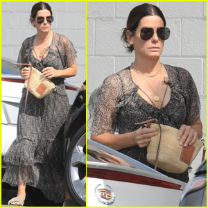 Sandra Bullock Gets Pampered During a Trip to the Hair Salon