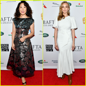 Sandra Oh & Jodie Comer Arrive in Style for BAFTA Tea Party!