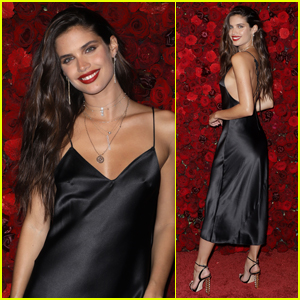 Sara Sampaio Goes Sexy in Silk for Victoria's Secret Bombshell Intense Launch Party