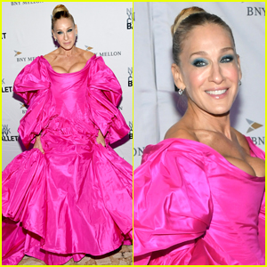 Sarah Jessica Parker Wows in Pink Gown for NYC Ballet Fall Fashion Gala 2019!