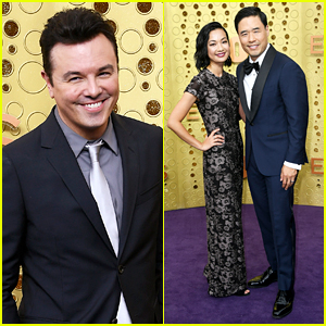 Seth MacFarlane & Randall Park Suit Up Sharp For Emmy Awards 2019