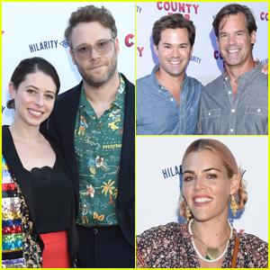Seth Rogen & Wife Lauren Miller Host Star-Studded Hilarity for Charity County Fair!