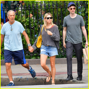 Sienna Miller Grabs Lunch with Her Dad & Ex Tom Sturridge in NYC