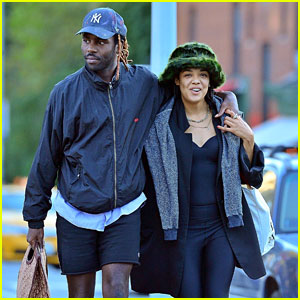 Tessa Thompson & Dev Hynes Embrace On a NYC Stroll