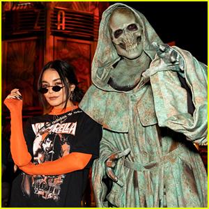Vanessa Hudgens & Dylan Minnette Stop By Universal Hollywood's Halloween Horror Nights