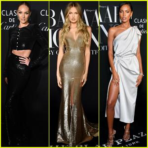 Candice Swanepoel & Victoria's Secret Angels Get Glam For Harper's Bazaar Icons Event!