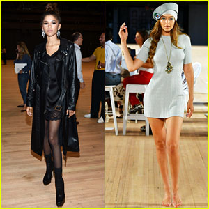 Zendaya Watches Gigi Hadid Walk in Marc Jacobs' NYFW Show
