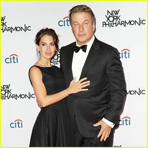 Alec Baldwin & Pregnant Wife Hilaria Attend New York Philharmonic Fall Gala 2019