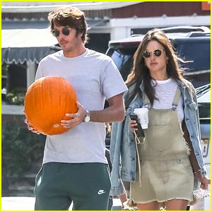 Alessandra Ambrosio & Boyfriend Nicolo Oddi Pick Up a Pumpkin in Brentwood