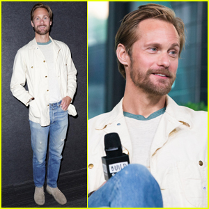 Alexander Skarsgard is All Smiles Promoting 'The Kill Team' in NYC